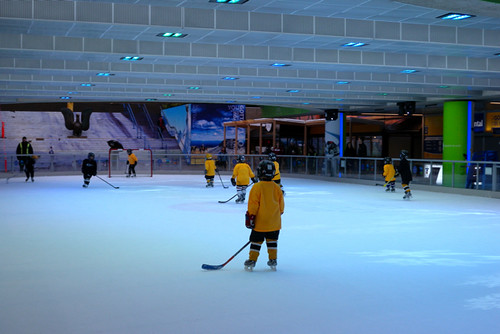 Robson Square Ice Rink - Kid Hockey in the Morning