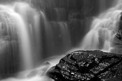 (Northumbria Photography) Tags: england blackandwhite bw water rock canon geotagged blackwhite waterfall northumberland 18200mm canoneos400d hareshawlinn canon18200mmis geo:lat=55162945 geo:lon=2250102