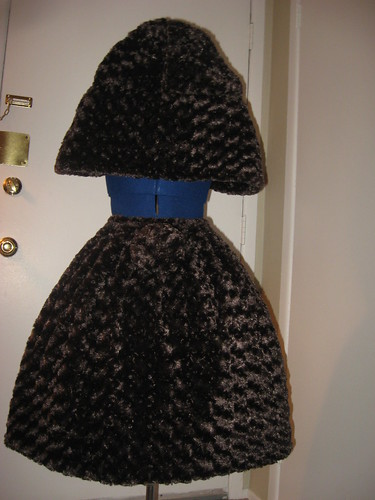 Fur Skirt & Cape Set 006