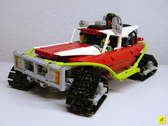 Tracker (mahjqa) Tags: snow car power lego mud offroad tracks technic swamp vehicle functions bog tracked moc