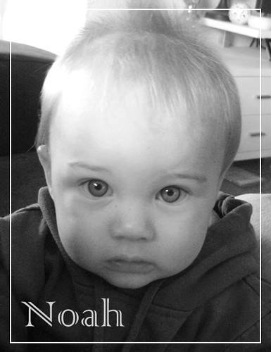 Noah black and white with name