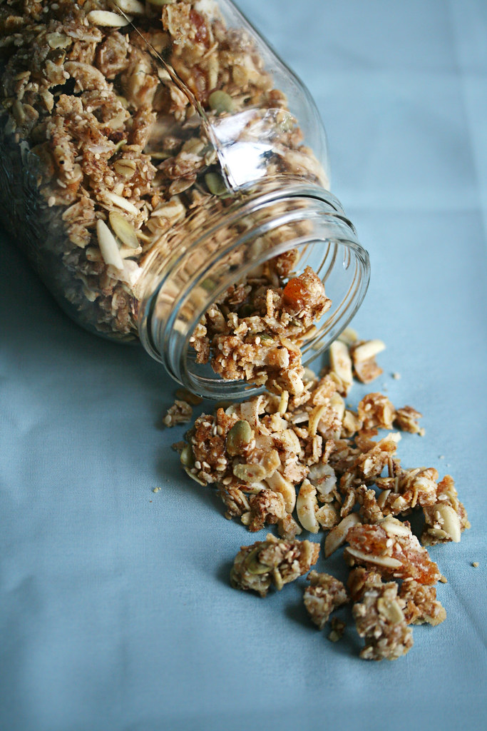 Chewy Cherry-Apricot Granola