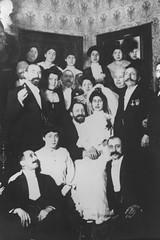 Wedding of Ella Leubsdorf and Dr. Alfred Levison (Center for Jewish History, NYC) Tags: wedding corner beard groom bride crowd marriage jewish jews bridal 1904 leobaeckinstitute ritesandcustoms ellaleubsdorf alfredlevison
