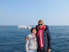 Desde el barco con Lucas
