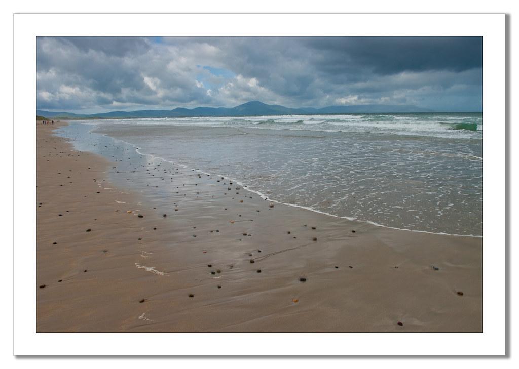 beach view towards Dingle Peninsula
