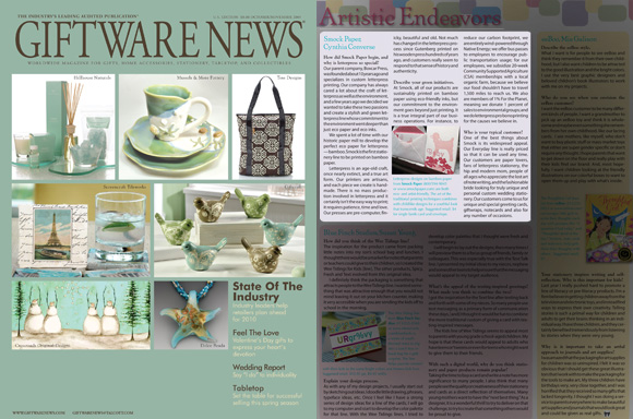 Smock in Giftware News