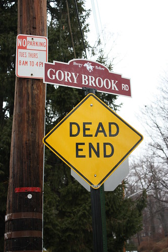 Imagine how the folks who live on the dead end of Gory Brook Road feel.