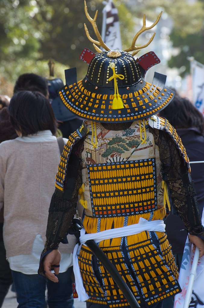 samurai in the street