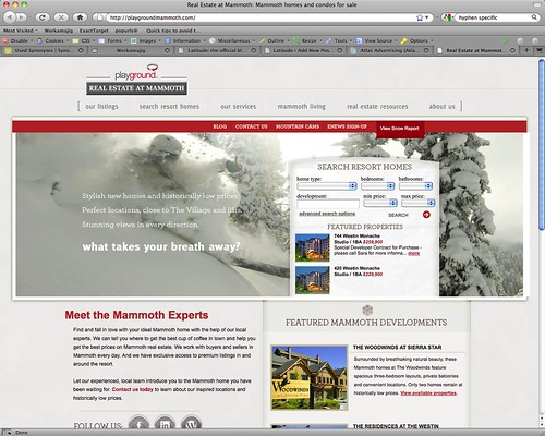 Playground Mammoth website launches