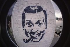 Hackney views (bobsynthesis) Tags: streetart london graffiti fisheye