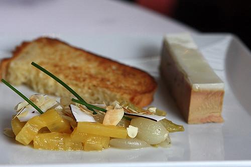 foie gras au natural en gelée à l'amande