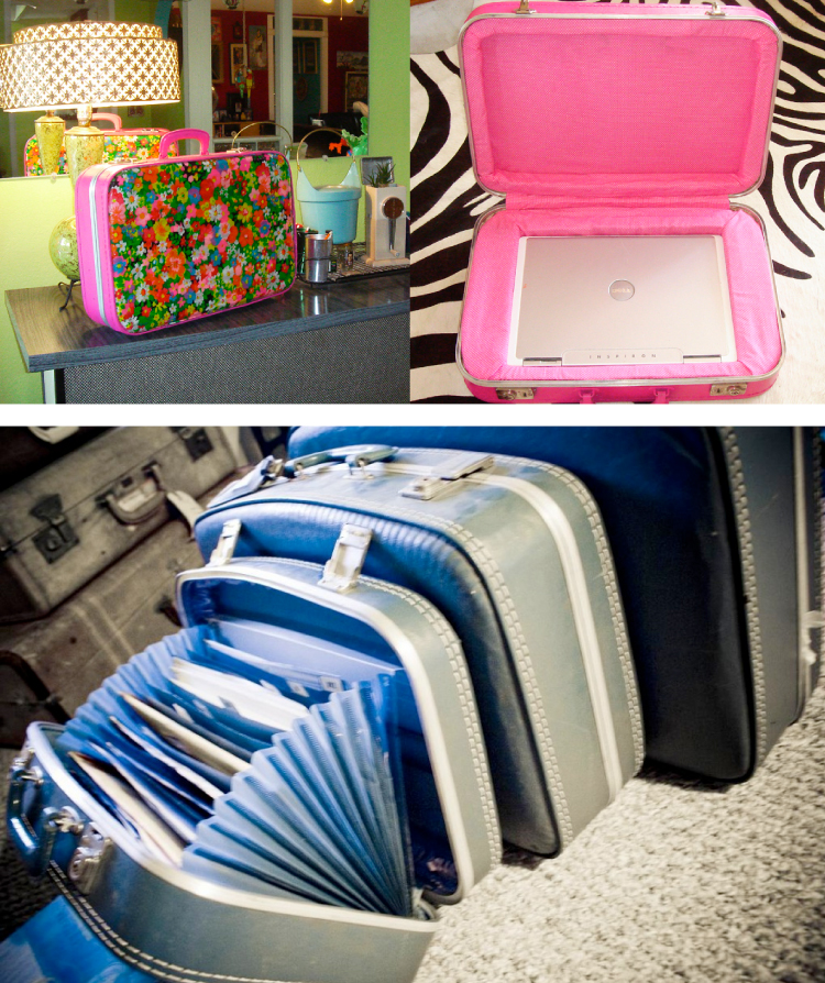 Repurposed suitcases