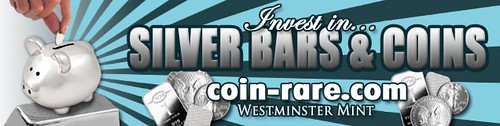 Silver Bars and Coins Banner