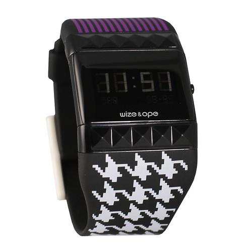 Black Digital Watch Retro Funk