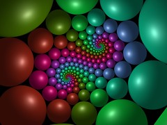 Cyclic rainbow (fdecomite) Tags: circle spiral packing sphere math doyle povray