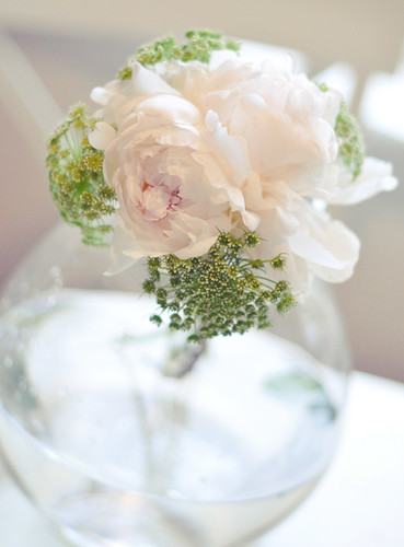 DIY White and green wedding bouquet 3