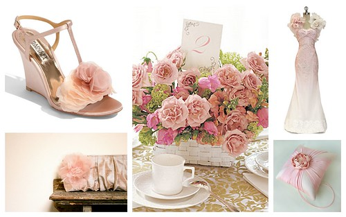 {Pink Flowery Gorgeousness} Bridal Style Inspiration by Nina Renee Designs