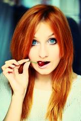 COLOUR! (Vika Palatova) Tags: red orange colour self canon blueeyes colourredorangecanonblueeyesselfsmilefunny