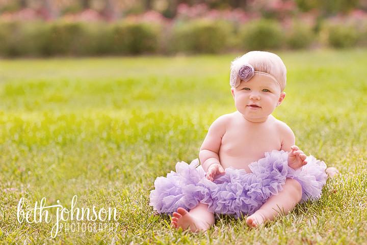 tallahassee baby girl in purple pettiskirt and headband