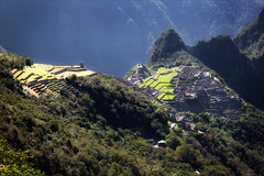 Macchu Picchu and Guardhouse (kate willmer) Tags: green terraces mountain trees buildings ruins macchupicchu peru
