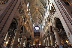 Notre Dame Interior, Paris (Will In Aus) Tags: paris france church french cathedral interior inside notre dame uwa ultrawideangle