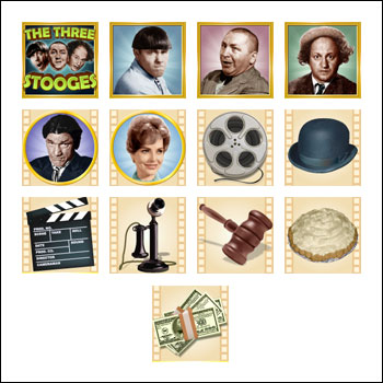 free The Three Stooges slot game symbols