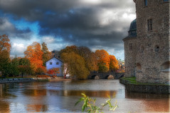 Autumn Town Shot (migge65) Tags: autumn water photoshop hdr rebro photomatix niksoftware topazadjust nikond5000 nikonafs35mm118gdx