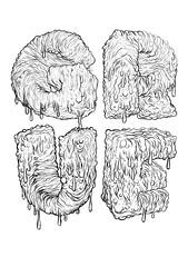 GO FONT URSELF 3 - GRUE! (brettpeter) Tags: 3 typography design sketch drawing go sydney australia brisbane brett font urself stenson