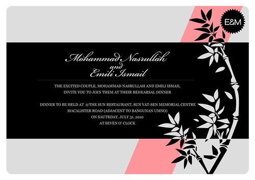 Pre Wedding Invitation To follow the development of my Wedding Card Series