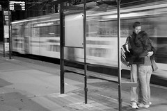 ...mai stai (alex crisan) Tags: love public station night hug fear tram lovers hugs timisoara statie tramvai indragostiti nikonromanianclub