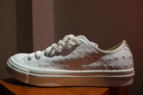 woefully perforated shoe
