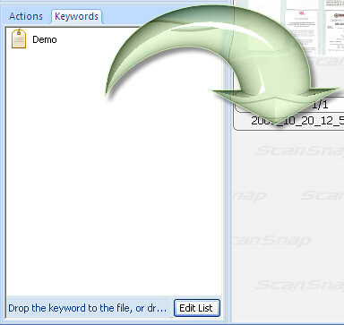 How Can I Use the Distribute by Keyword Feature in the ScanSnap Organizer Software Available with the S1500?_4