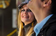 Be carfeul of the eyes.. (Kristopher Michael) Tags: portrait sunlight film philadelphia smile movie photography eyes nikon gallery fine pa independent indie philly rittenhousesquare gaze the 19109 of jaketompkins mysixtiesgirl laurachristman mysixtiesgirlcom