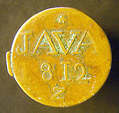 1811 East India Company Java Half Stiver obv