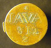 1811 East India Company Java Half Stiver obv