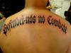 Tattoo Escrita Defendei-nos no Combate Tatuagem www.micaeltattoo.com.br micaeltattoo.wordpress.com/ micaeltattoo.daportfolio.com