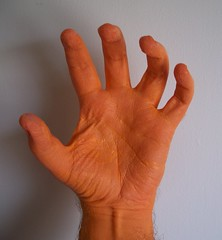 The creepy hand just got creepier! (helixdmonster) Tags: orange scary hands cpm creepyhands