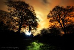 Lightpainter at Work (Oliver Wood Photography) Tags: wood lightpainting night nikon experimental oliver cheshire natural noflash torch fields atmospheric prestbury d80