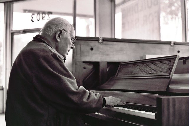 Mr. Oleg Gladkoff playing the piano