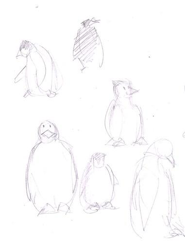 Penguin doodles