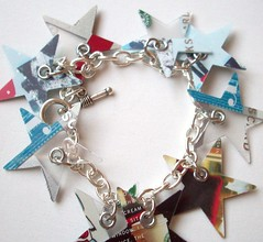 Stars (Jupita) Tags: upcycled plasticgiftcard recycled funky starbucks jupita jewelry bracelt wearableart repurposed trashion ecofriendly handmade eco plastic art handcut