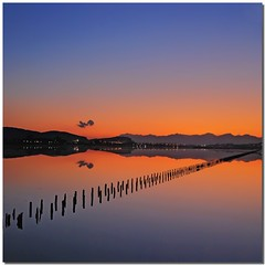 Shades of a dream (Nespyxel) Tags: sardegna travel light sunset sky reflections mirror tramonto sardinia dream shades cielo riflessi saline luce cagliari salina sogno reflexes poetto nuances sfumature simmetrie symmetries challengeyouwinner nespyxel stefanoscarselli theauthorsclub pleasedontusethisimageonwebsites blogsorothermediawithoutmyexplicitpermissionallrightsreserved