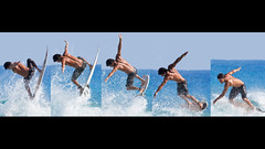 Banyans Ballet (konaboy) Tags: ocean sports composite hawaii surf action surfer air surfing 180 multiple bigisland sequence kailuakona banyans 4311seq16x9 stunningphotogpin
