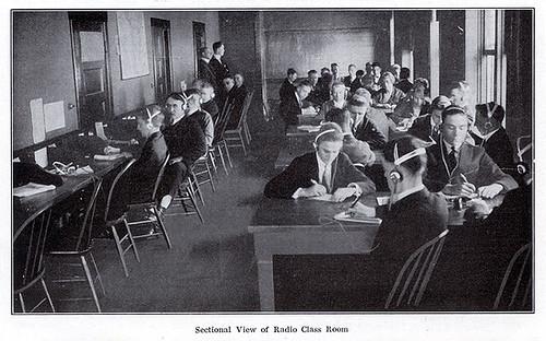 Dodge's Telegraph, Railway Accounting and Radio (Wireless) Institute, Sectional View of Radio Class Room, 1924 - Valparaiso, Indiana