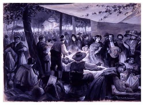 I.E.A. 15 JUNIO 1910 - 1.º N.º XXII. Pág. 357.VERBENA DE SAN ANTONIO EN MADRID-Dibujo de Federico Avrial