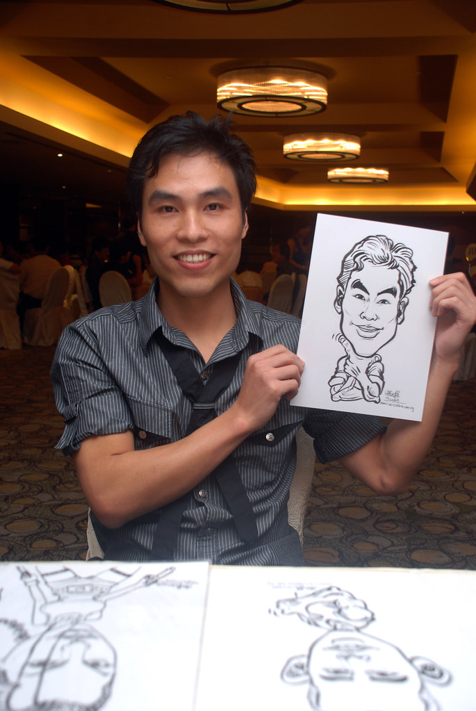Caricature live sketching for Hock Cheong Printing Pte Ltd D&D 2009 - 10