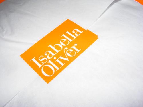 Isabella Oliver parcel arrives