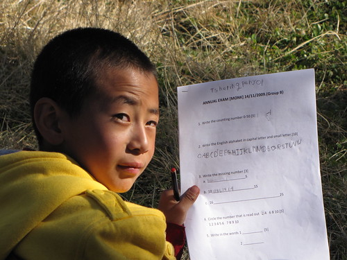 Tshering Penjor's English test