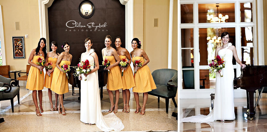 yellow bridesmaids j. crew dress portrait sophisticated destination wedding