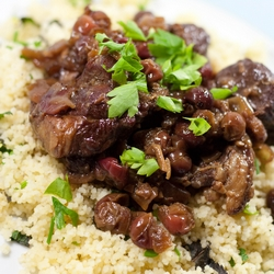 Braised Lamb in Cranberry